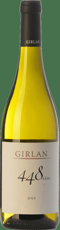 9,95 € Envío gratis | Vino blanco Girlan 448 S.L.M. Bianco I.G.T. Vigneti delle Dolomiti Trentino Italia Chardonnay, Pinot Blanco, Sauvignon Botella 75 cl