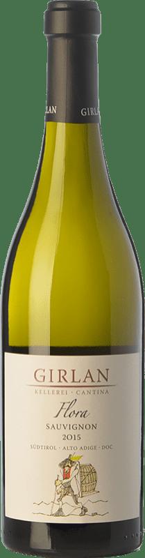 16,95 € Envío gratis | Vino blanco Girlan Sauvignon Flora D.O.C. Alto Adige Trentino-Alto Adige Italia Sauvignon Blanca Botella 75 cl