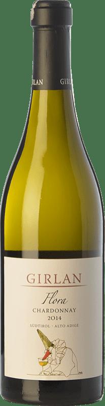 25,95 € Envío gratis | Vino blanco Girlan Flora D.O.C. Alto Adige Trentino-Alto Adige Italia Chardonnay Botella 75 cl