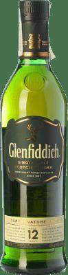23,95 € Envio grátis | Uísque Single Malt Glenfiddich 12 Speyside Reino Unido Garrafa 70 cl. | Milhares de amantes do vinho confiam em nós com a garantia do melhor preço, envio sempre grátis e compras e devoluções sem complicações.