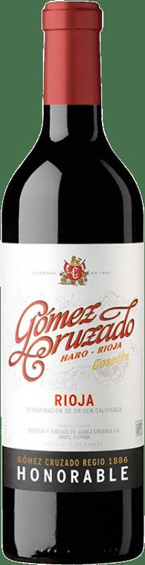 29,95 € Envío gratis | Vino tinto Gómez Cruzado Honorable Reserva D.O.Ca. Rioja La Rioja España Tempranillo, Garnacha, Graciano, Mazuelo, Viura Botella 75 cl