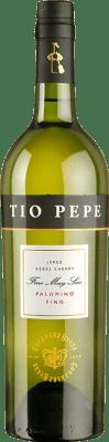 6,95 € 免费送货 | 强化酒 González Byass Tío Pepe Fino Muy Seco D.O. Manzanilla-Sanlúcar de Barrameda 安达卢西亚 西班牙 Palomino Fino 瓶子 75 cl