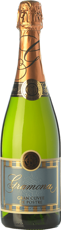 13,95 € Envio grátis | Espumante branco Gramona Gran Cuvée de Postre D.O. Cava Catalunha Espanha Macabeo, Xarel·lo, Parellada Garrafa 75 cl