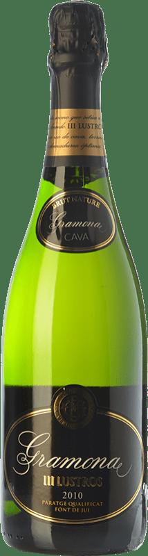 32,95 € 免费送货 | 白起泡酒 Gramona III Lustros Gran Reserva 2010 D.O. Cava 加泰罗尼亚 西班牙 Macabeo, Xarel·lo 瓶子 75 cl