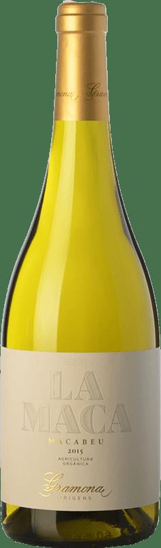 14,95 € 免费送货 | 白酒 Gramona La Maca Crianza D.O. Penedès 加泰罗尼亚 西班牙 Macabeo 瓶子 75 cl