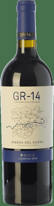 12,95 € Free Shipping | Red wine Gran del Siurana GR-14 Roble D.O. Ribera del Duero Castilla y León Spain Tempranillo Bottle 75 cl