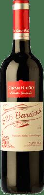 6,95 € Kostenloser Versand | Rotwein Gran Feudo Edición 626 Barricas Crianza D.O. Navarra Navarra Spanien Tempranillo, Merlot, Cabernet Sauvignon Flasche 75 cl