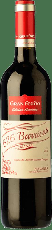 6,95 € Envío gratis | Vino tinto Gran Feudo Edición 626 Barricas Crianza D.O. Navarra Navarra España Tempranillo, Merlot, Cabernet Sauvignon Botella 75 cl