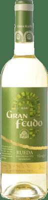 6,95 € Kostenloser Versand | Weißwein Gran Feudo D.O. Rueda Kastilien und León Spanien Verdejo Flasche 75 cl