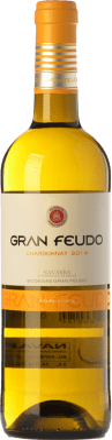 5,95 € Envío gratis | Vino blanco Gran Feudo D.O. Navarra Navarra España Chardonnay Botella 75 cl