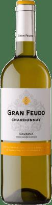 5,95 € Kostenloser Versand | Weißwein Gran Feudo D.O. Navarra Navarra Spanien Chardonnay Flasche 75 cl