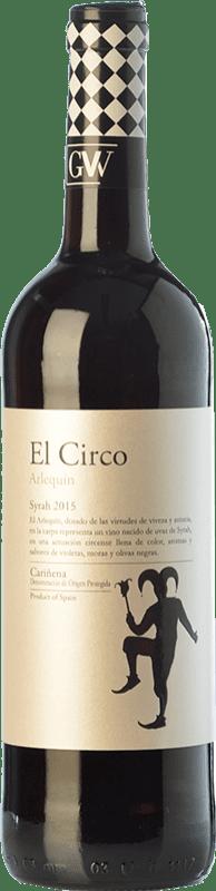 4,95 € Free Shipping | Red wine Grandes Vinos El Circo Arlequín Joven D.O. Cariñena Aragon Spain Syrah Bottle 75 cl
