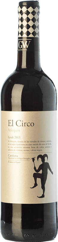 4,95 € Envío gratis | Vino tinto Grandes Vinos El Circo Arlequín Joven D.O. Cariñena Aragón España Syrah Botella 75 cl