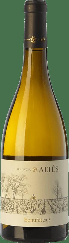 16,95 € Envío gratis | Vino blanco Herència Altés Benufet Crianza D.O. Terra Alta Cataluña España Garnacha Blanca Botella 75 cl