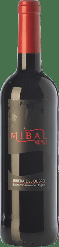 11,95 € Envoi gratuit | Vin rouge Hornillos Ballesteros Mibal Joven D.O. Ribera del Duero Castille et Leon Espagne Tempranillo Bouteille 75 cl