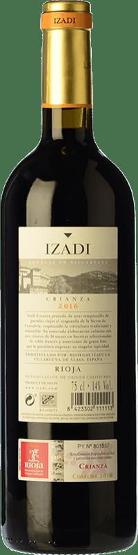 9,95 € Envío gratis   Vino tinto Izadi Crianza D.O.Ca. Rioja La Rioja España Tempranillo Botella 75 cl