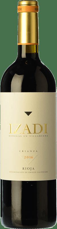 58,95 € Envío gratis | Vino tinto Izadi Crianza D.O.Ca. Rioja La Rioja España Tempranillo Botella Jéroboam-Doble Mágnum 3 L