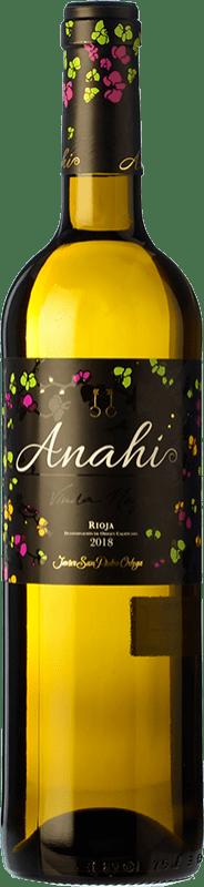 7,95 € Envoi gratuit | Vin blanc San Pedro Ortega Anahí D.O.Ca. Rioja La Rioja Espagne Malvasía, Tempranillo Blanc, Sauvignon Blanc Bouteille 75 cl