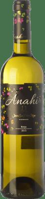 9,95 € Free Shipping | White wine San Pedro Ortega Anahí D.O.Ca. Rioja The Rioja Spain Malvasía, Tempranillo White, Sauvignon White Magnum Bottle 1,5 L