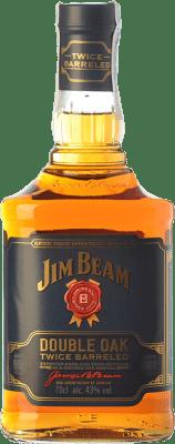 27,95 € Envío gratis | Bourbon Jim Beam Double Oak Kentucky Estados Unidos Botella 70 cl