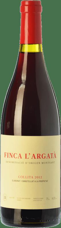 28,95 € Free Shipping | Red wine Joan d'Anguera Finca l'Argatà Crianza D.O. Montsant Catalonia Spain Syrah, Grenache Bottle 75 cl