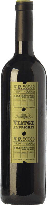 14,95 € Free Shipping | Red wine Joan Simó Viatge al Joven D.O.Ca. Priorat Catalonia Spain Merlot, Syrah, Grenache, Cabernet Sauvignon, Carignan, Grenache Hairy Bottle 75 cl
