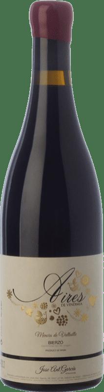 25,95 € Free Shipping | Red wine José Antonio García Aires de Vendimia Crianza D.O. Bierzo Castilla y León Spain Mencía Bottle 75 cl