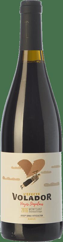 10,95 € Free Shipping | Red wine Josep Grau L'Efecte Volador Joven D.O. Montsant Catalonia Spain Grenache, Carignan Bottle 75 cl