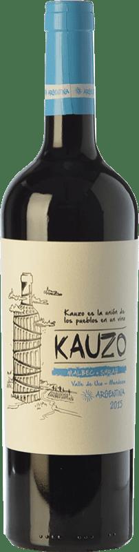 15,95 € Free Shipping | Red wine Kauzo Malbec-Syrah Joven I.G. Valle de Uco Uco Valley Argentina Syrah, Malbec Bottle 75 cl
