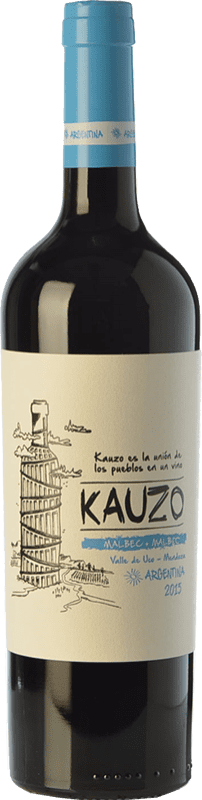 12,95 € Free Shipping | Red wine Kauzo Joven I.G. Valle de Uco Uco Valley Argentina Malbec Bottle 75 cl
