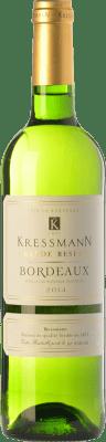 6,95 € Kostenloser Versand | Weißwein Kressmann Blanc Grande Réserve A.O.C. Bordeaux Bordeaux Frankreich Sauvignon Weiß, Sémillon, Muscadelle Flasche 75 cl