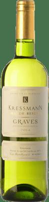 7,95 € Kostenloser Versand | Weißwein Kressmann Blanc Grande Réserve A.O.C. Graves Bordeaux Frankreich Sauvignon Weiß, Sémillon Flasche 75 cl