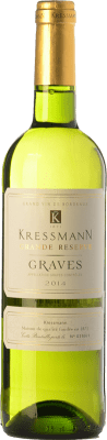 6,95 € Free Shipping | White wine Kressmann Blanc Grande Réserve A.O.C. Graves Bordeaux France Sauvignon White, Sémillon Bottle 75 cl