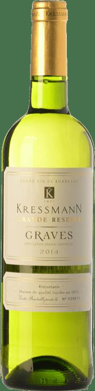 8,95 € Free Shipping | White wine Kressmann Blanc Grande Réserve A.O.C. Graves Bordeaux France Sauvignon White, Sémillon Bottle 75 cl