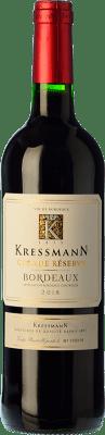 7,95 € Free Shipping | Red wine Kressmann Rouge Grande Réserve Gran Reserva A.O.C. Bordeaux Bordeaux France Merlot, Cabernet Sauvignon, Cabernet Franc Bottle 75 cl