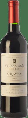 7,95 € Kostenloser Versand | Rotwein Kressmann Rouge Grande Réserve Gran Reserva A.O.C. Graves Bordeaux Frankreich Merlot, Cabernet Sauvignon Flasche 75 cl