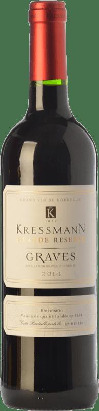7,95 € Envío gratis   Vino tinto Kressmann Rouge Grande Réserve Gran Reserva A.O.C. Graves Burdeos Francia Merlot, Cabernet Sauvignon Botella 75 cl