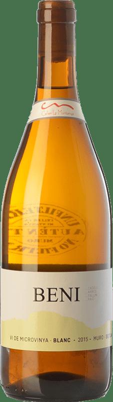 7,95 € Free Shipping | White wine La Muntanya Beni Crianza Spain Malvasía, Grenache White Bottle 75 cl