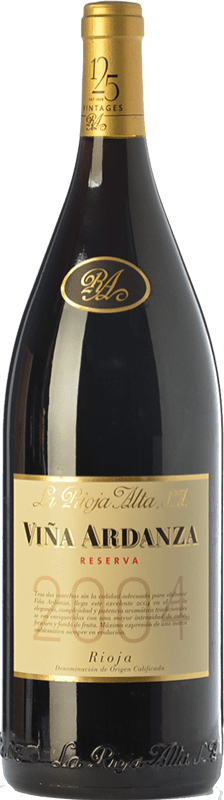 335,95 € Kostenloser Versand | Rotwein Rioja Alta Viña Ardanza Reserva 2008 D.O.Ca. Rioja La Rioja Spanien Tempranillo, Grenache Jéroboam Flasche-Doppel Magnum 3 L