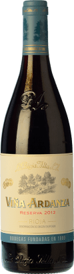15,95 € Envío gratis | Vino tinto Rioja Alta Viña Ardanza Reserva D.O.Ca. Rioja La Rioja España Tempranillo, Garnacha Media Botella 37 cl