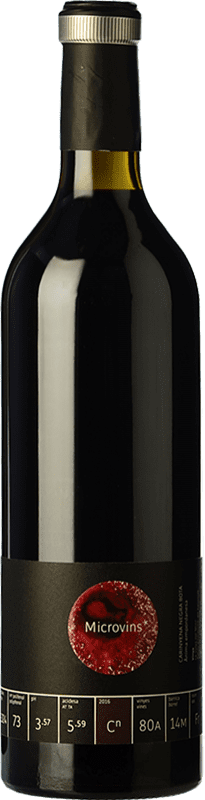 16,95 € Free Shipping | Red wine La Vinyeta Microvins Crianza D.O. Empordà Catalonia Spain Samsó Bottle 75 cl