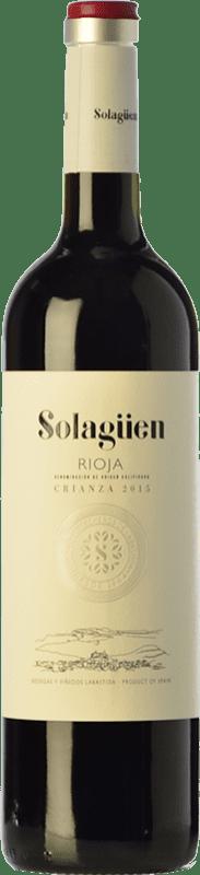 6,95 € Envoi gratuit | Vin rouge Labastida Solagüen Crianza D.O.Ca. Rioja La Rioja Espagne Tempranillo Bouteille 75 cl
