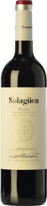 8,95 € Envío gratis | Vino tinto Labastida Solagüen Crianza D.O.Ca. Rioja La Rioja España Tempranillo Botella 75 cl