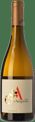 9,95 € Free Shipping | White wine Lagar d'Amprius I.G.P. Vino de la Tierra Bajo Aragón Aragon Spain Chardonnay Bottle 75 cl