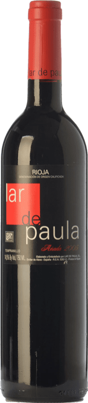 18,95 € Free Shipping | Red wine Lar de Paula Cepas Viejas Crianza D.O.Ca. Rioja The Rioja Spain Tempranillo Bottle 75 cl