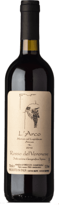 12,95 € Envío gratis | Vino tinto L'Arco Vini Rosso I.G.T. Veronese Veneto Italia Sangiovese, Corvina, Rondinella, Molinara, Teroldego Botella 75 cl