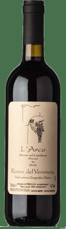 12,95 € Free Shipping | Red wine L'Arco Vini Rosso I.G.T. Veronese Veneto Italy Sangiovese, Corvina, Rondinella, Molinara, Teroldego Bottle 75 cl