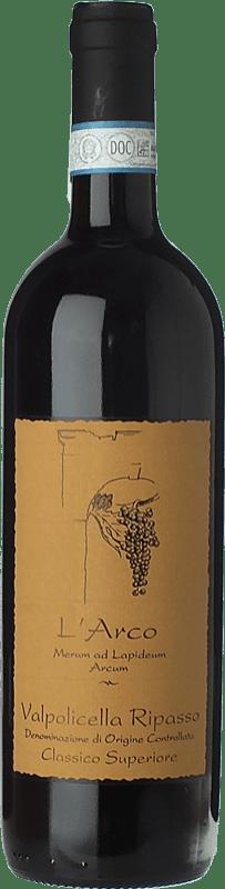 21,95 € Free Shipping | Red wine L'Arco Vini D.O.C. Valpolicella Ripasso Veneto Italy Corvina, Rondinella, Molinara Bottle 75 cl