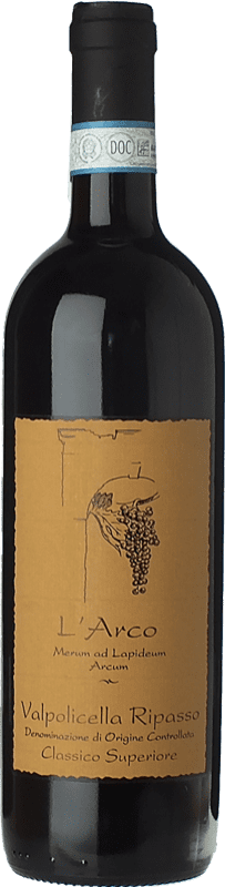 21,95 € Envío gratis | Vino tinto L'Arco Vini D.O.C. Valpolicella Ripasso Veneto Italia Corvina, Rondinella, Molinara Botella 75 cl