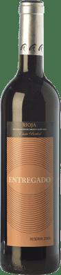 8,95 € Envoi gratuit | Vin rouge Leza Entregado Selección Reserva D.O.Ca. Rioja La Rioja Espagne Tempranillo, Grenache Bouteille 75 cl